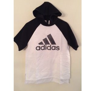 Adidas Black and White Hoody